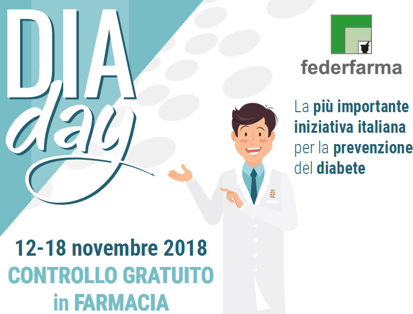 DiaDay 12-18 novembre 2018 screening per il diabete in farmacia